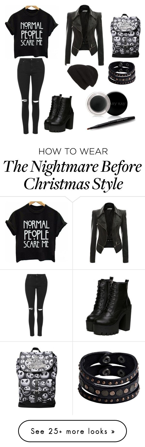 """Black outfit"" by alexandrapirlog on Polyvore featuring Topshop, Phase 3, Replay and Mary Kay"