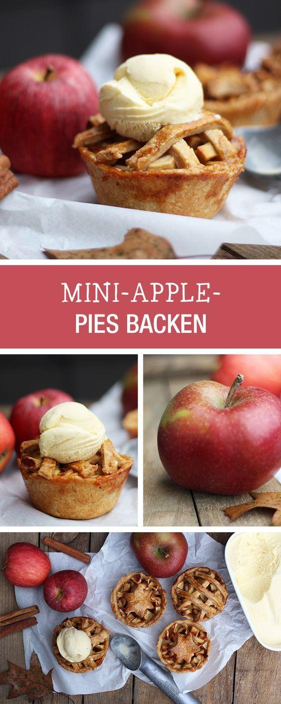 Rezeptidee für Äpfel: Kleine Apple Pies backen / apple recipe: small apple pies via DaWanda.com