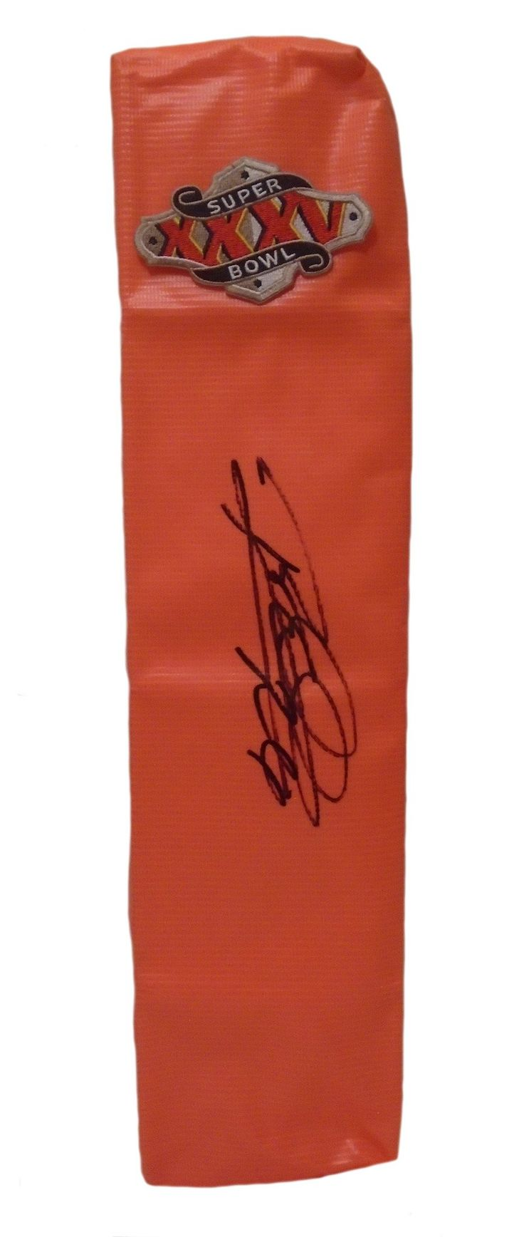 Rod Woodson Autographed Baltimore Ravens Super Bowl XXXV Full Size Football End Zone. This is a brand-new custom Rod Woodson signed Baltimore Ravens Super Bowl XXXV full sizefootball end zone pylon. This pylon measures 4inches (Width) X 4inches (Length) X 18inches (Height). Rod signed the pylonin black sharpie.Check out the photo of Rod signing for us. ** Proof photo is included for free with purchase. Please click on images to enlarge. Please browse our websitefor additional NFL…
