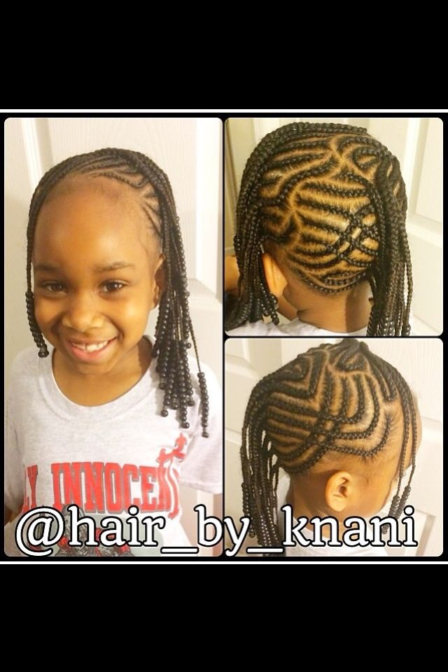 Amazing cornrow design on natural hair!