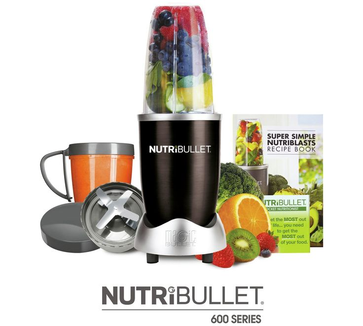 Buy NutriBullet 600 - Black at Argos.co.uk, visit Argos.co.uk to shop online for Blenders and smoothie makers, Blenders, juicers and smoothie makers, Kitchen electricals, Home and garden