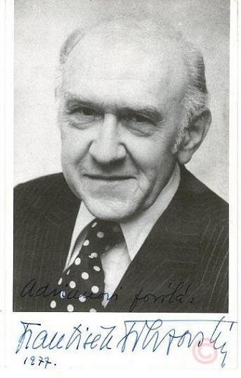 """*-* František Filipovský - František Filipovský (1907–1993) bol český herec, ktorý bol za svoje majstrovstvo v dabingu nazývaný aj """"hlasová eminencia""""."""