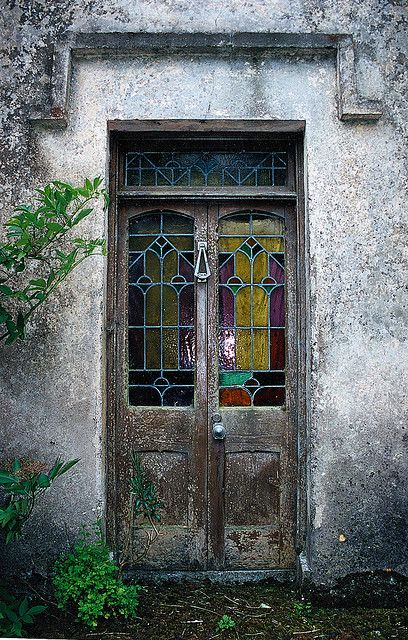 "This restored door is on an old Irish cottage built in the 1800's. The cottage is formally known as the ""Lynch house"" in Dungzrvan, County Waterford, Ireland. ~ mary"