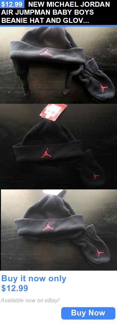 Michael Jordan Baby Clothing: New Michael Jordan Air Jumpman Baby Boys Beanie Hat And Gloves Mittens Set BUY IT NOW ONLY: $12.99