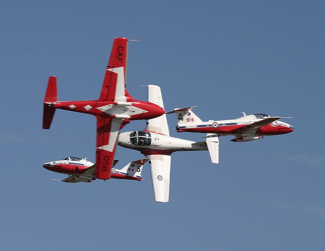 Snowbirds Canadair CT-114 Tutor by Christopher Ebdon