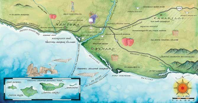 Ventura Beach California Oxnard Shores Camarillo Outlets vcla-map.jpg