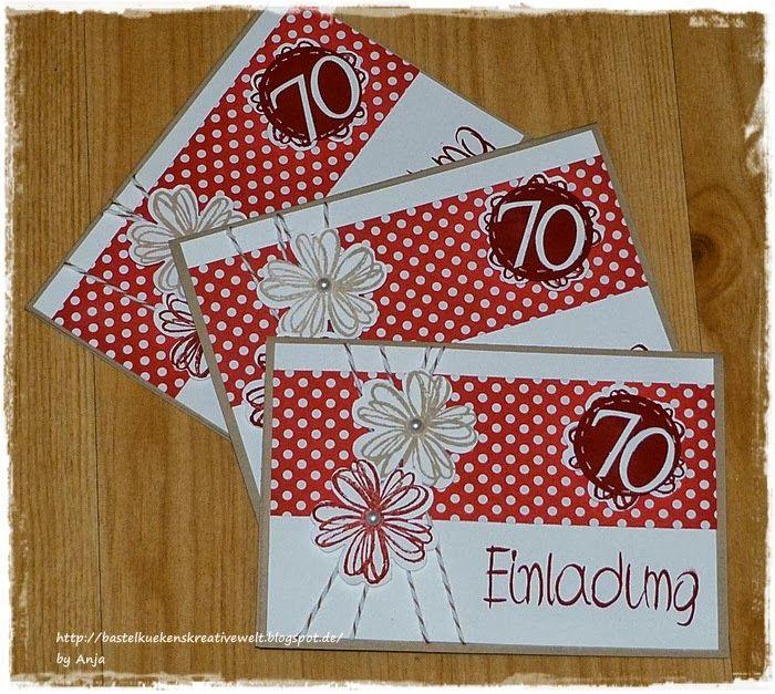 Einladungskarte 70. Geburtstag