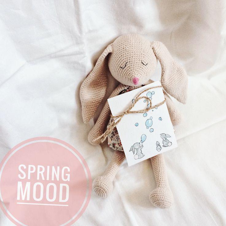 Spring bunny crochet