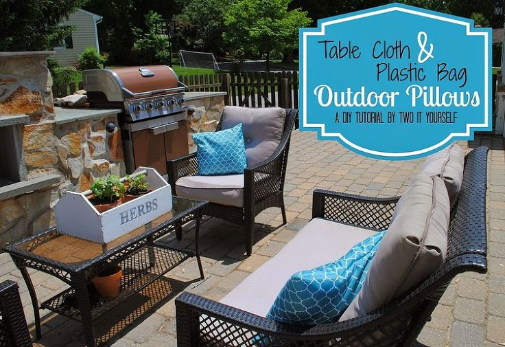 It's incredibly easy  cheap to make patio pillows like this.