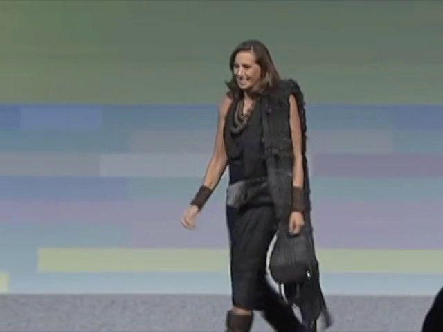 Donna Karan speaking at the 102nd National Retail Federation's Annual Convention and EXPO. Mon., Jan. 14, 2013, at the Jacob Javits Center.