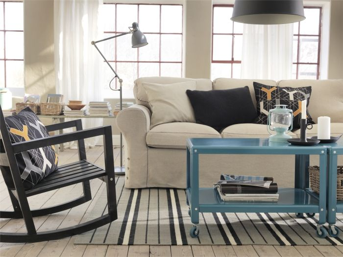 The ektorp sofa make it industrial chic quality seating - Inspiration salon ikea ...