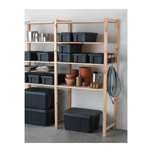 KLÄMTARE Låda med lock, inom-/utomhus - 27x45x15 cm - IKEA