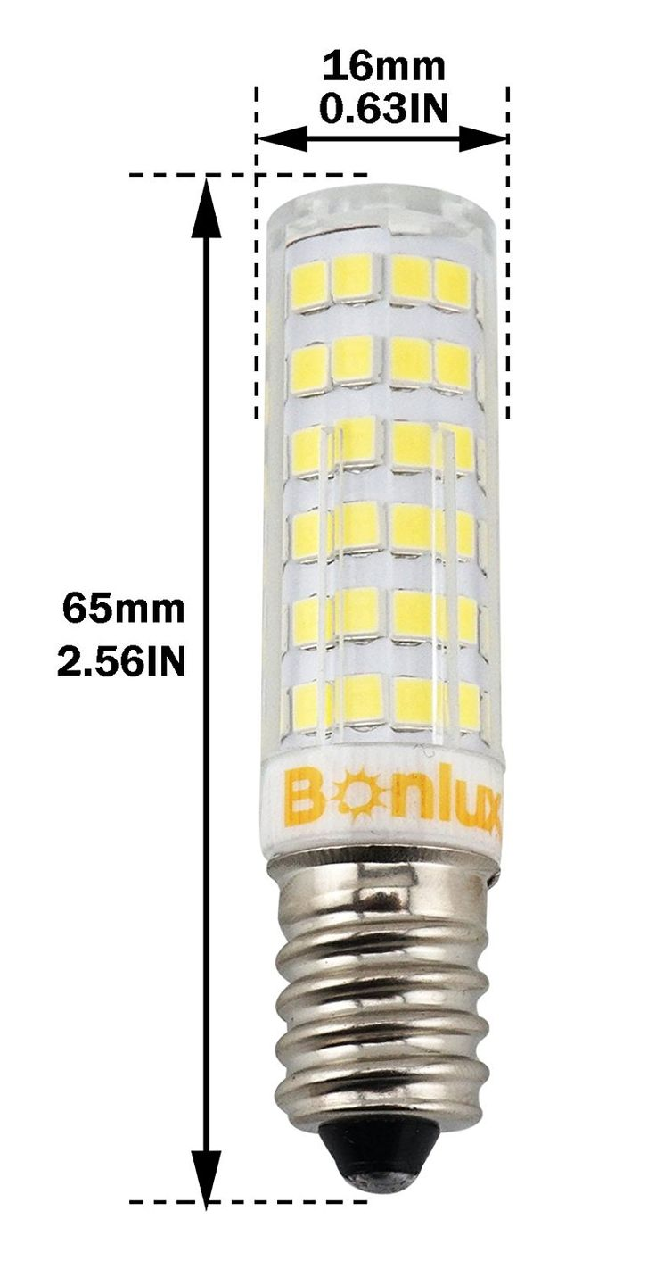 Bonlux 4 Packs Dimmable 6w E14 Led Candle Light Bulb Cool White 6000k 50w Halogen Replacement Small Edison Ses Corn Lamp For Ceiling Fan