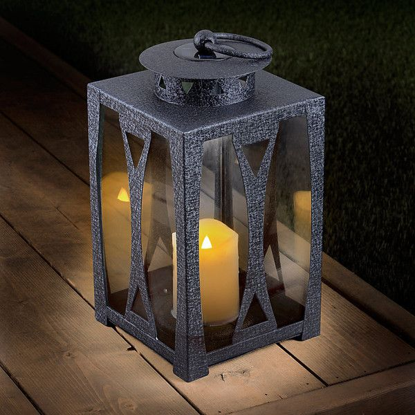 Hampton Solar Metal Lantern (60 TND) ❤ Liked On Polyvore Featuring Home,  Outdoors. Solar Powered Outdoor LightsSolar Yard LightsBattery ...
