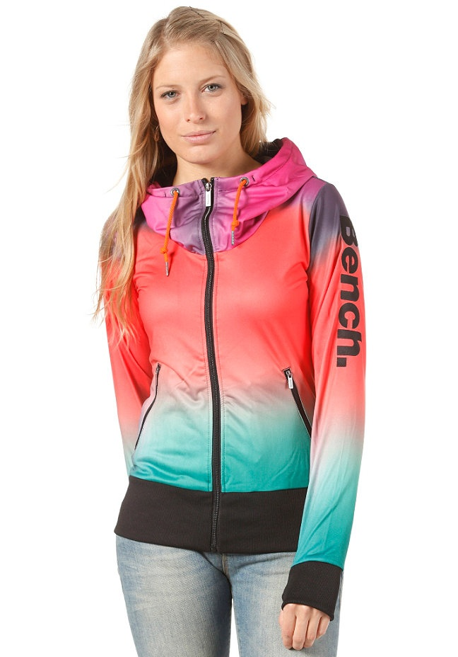 BENCH Womens Collend Sweat Jacket black