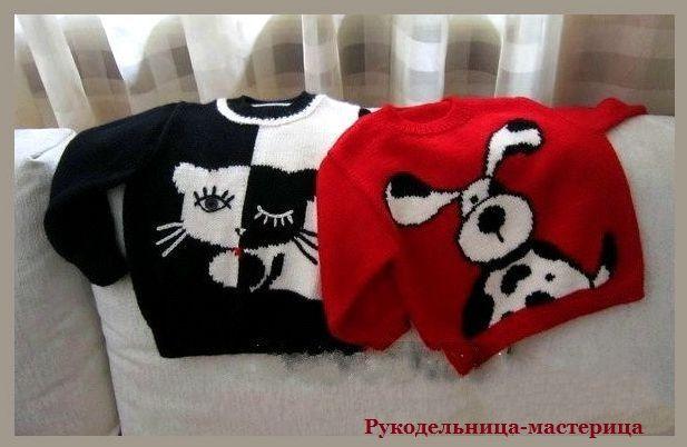 Озорные петельки: Детские пуловеры с забавными рисунками.