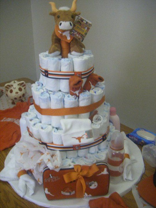 longhorns diaper cake: Diaper Cake, Baby Briones, Baby Fever, Baby Children, Baby Chambers, Baby Stuff, Baby Showers, Baby Diapers, Amazon