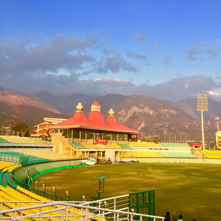 Amazing Dharamshala cricket stadium in the laps of Himalaya  Book your package to this exotic location with us.