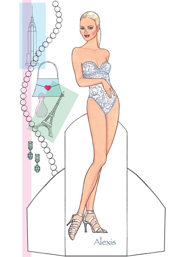 Fashion Model - Alexis 1 from Dover Publications