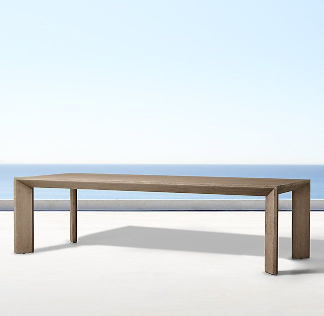 Arles Rectangular Outdoor Dining Table Dining Table Outdoor