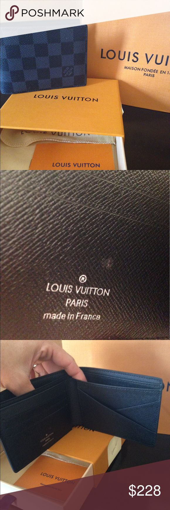 Louis Vuitton men's wallet New from the LV store with box and and bags Louis Vuitton Accessories Key & Card Holders
