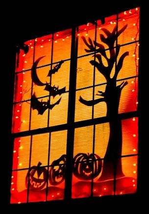 Window Silhouettes - 5 Halloween Party Décor Ideas for Adults