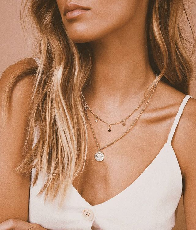 3e7021278 ◇ LAYERED GOLD ◇ Get layering, gal, in our Tessaro Layered Necklace ✨  Online now. PS. GET 25% OFF ALMOST EVERYTHING FOR VOSN Use the code '2…