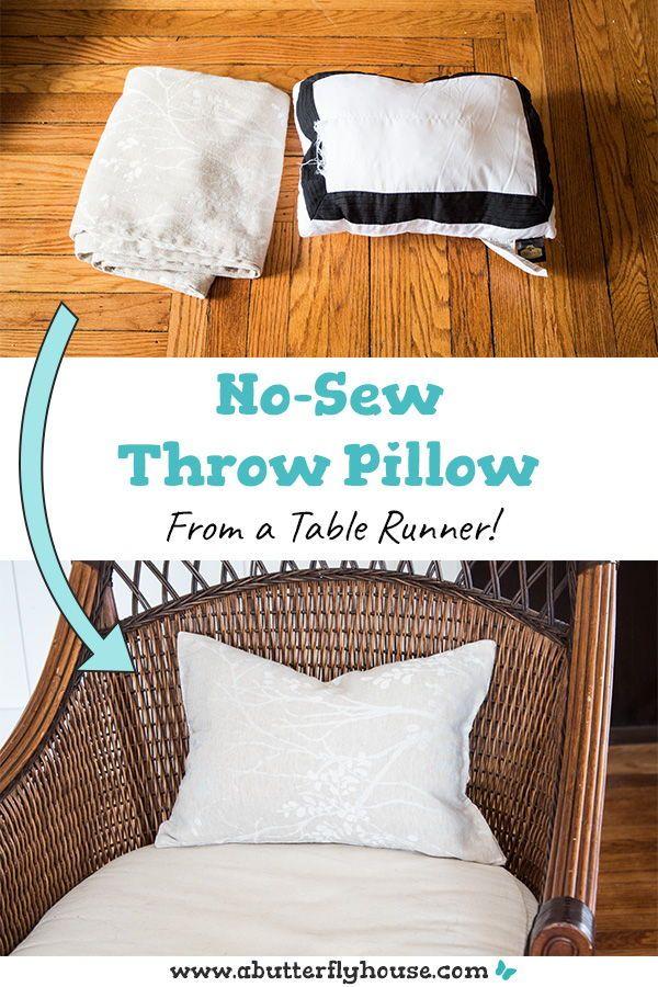10 Minute No Sew Diy Throw Pillow Diy Throw Pillows Diy