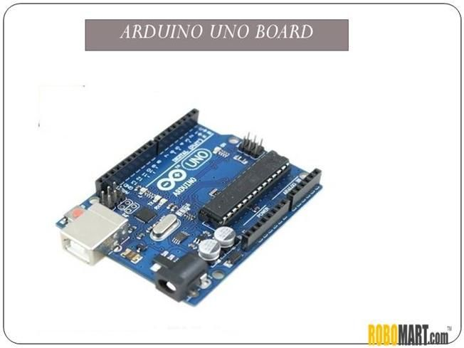 The Arduino Uno Board is an open source microcontroller board based on the ATmega328 chip. This Board has 14 digital Input/Output pins, 6 analog input pins, onboard 16 MHz ceramic resonator, An ICSP header and a microcontroller reset button. Robomart is the biggest selling store in india #buyarduinoboard, #arduinoindia, arduino uno price, #arduinoboardprice in india at best prices. Buy arduino online or directly from stores as well.