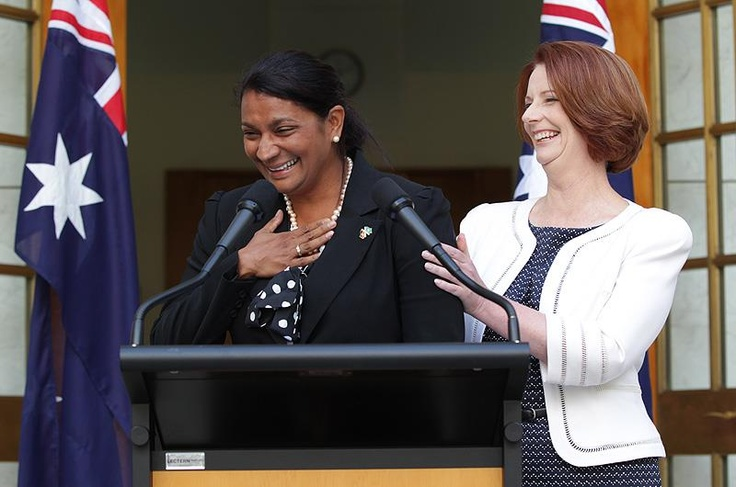 PM Julia Gillard endorsed #Aboriginal Australian Olympic gold medalist Nova Peris to challenge Labor's Northern Territory Senate ticket. Gillard wants Peris to become her party's first indigenous representative in federal parliament, but this appointment caused much controversy by effectively ending the sitting member's political career | #Auspol