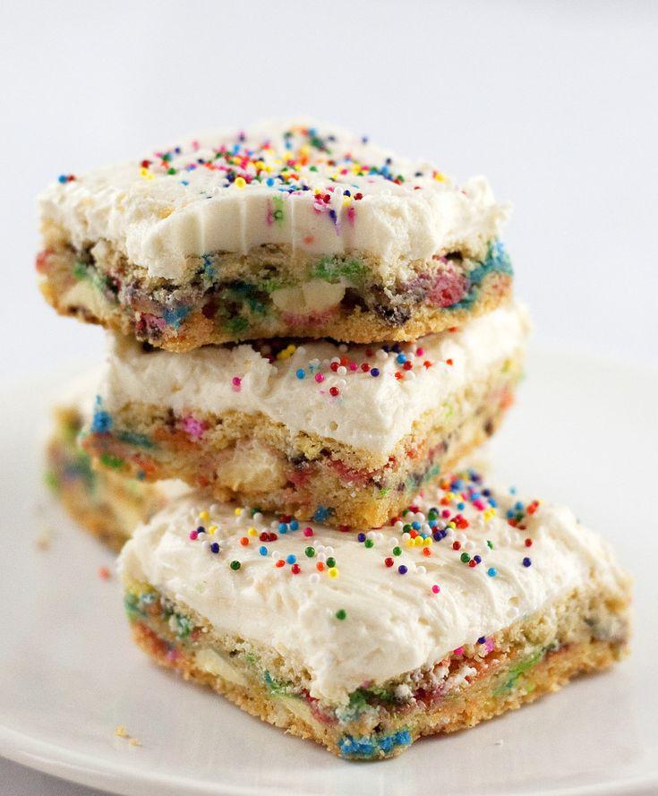 Funfetti Cake Batter Bars