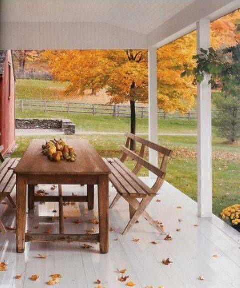 Porch dining.