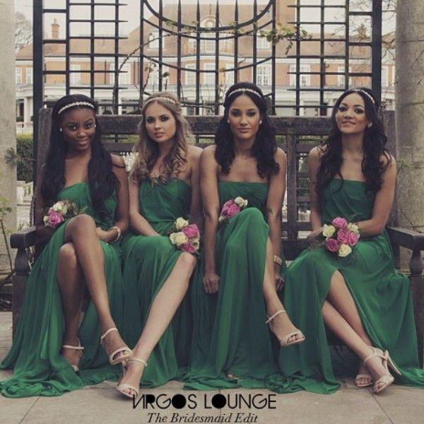 Nigerian wedding green bridesmaids dresses by Virgos Lounge 2014 1