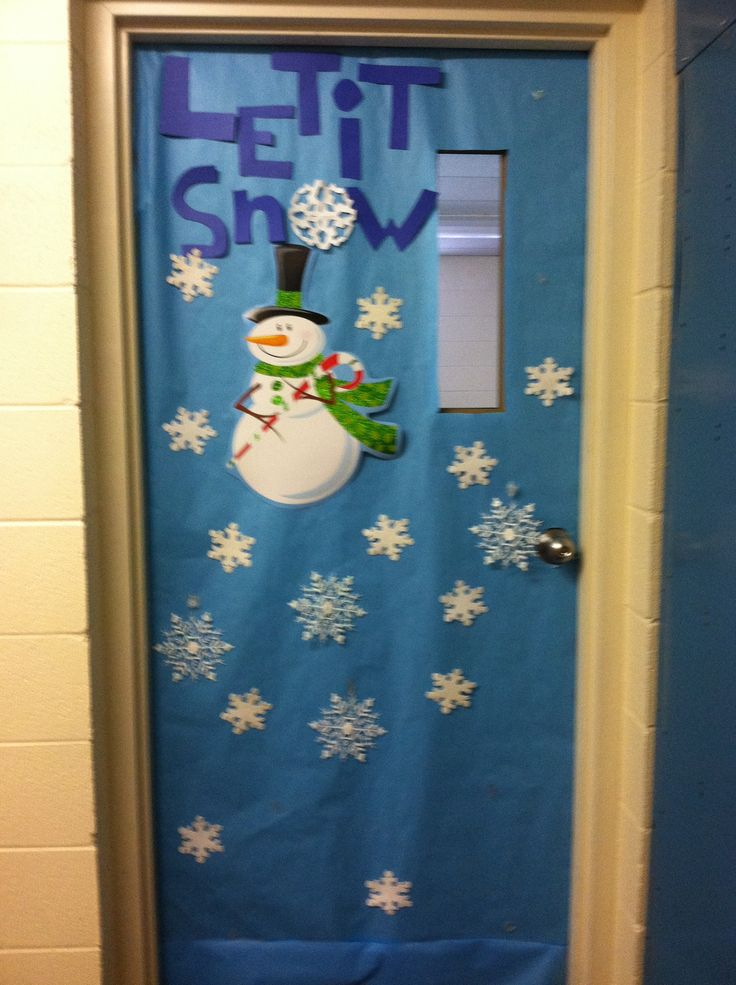 Let it snow | Christmas classroom door decoration ...