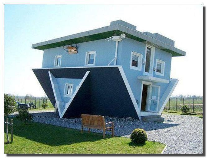 The iHouse. =) the inverted house #architecture #home #furniture