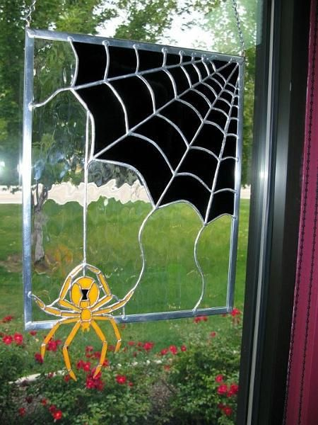 17 Best images about Stained Glass Spider Webs on ...