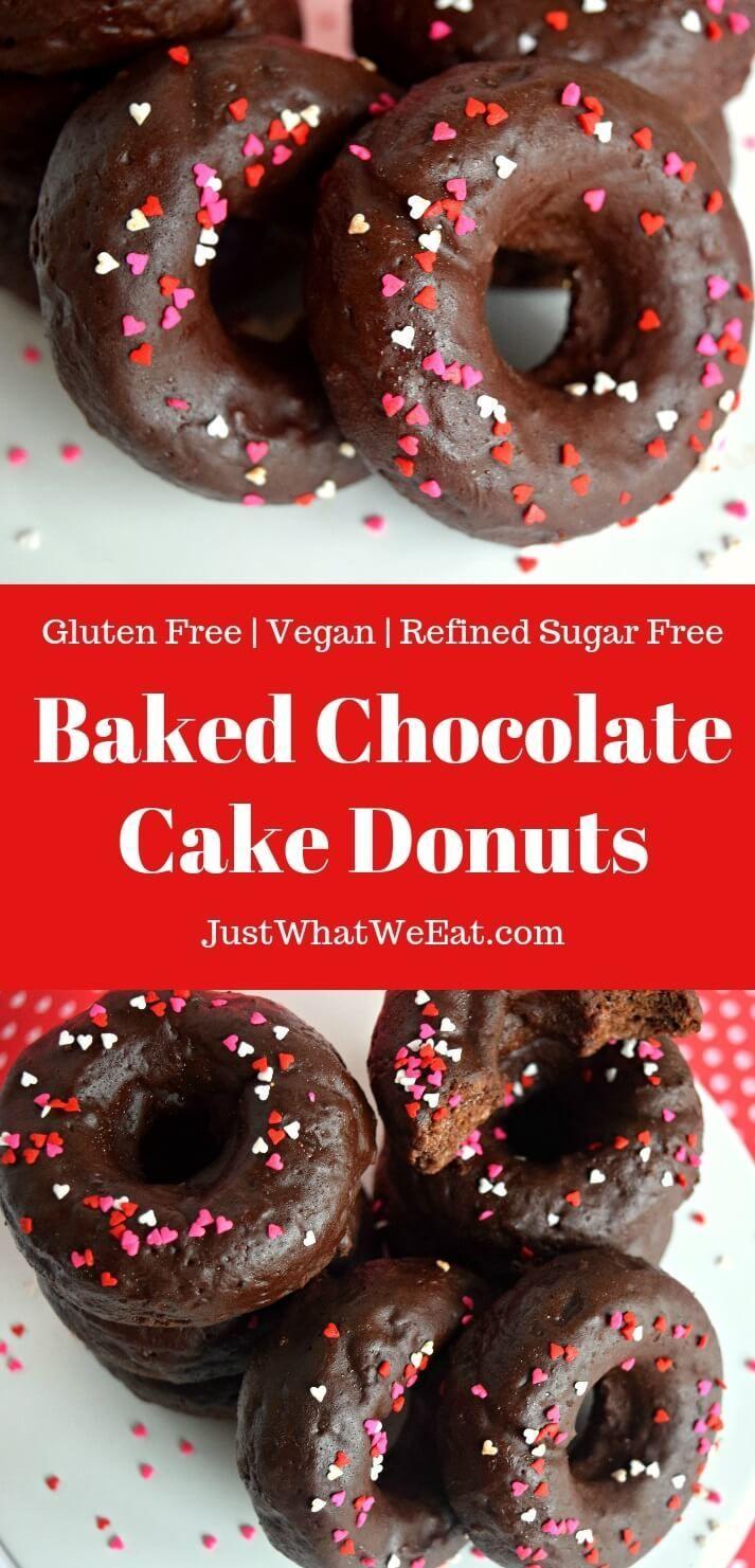 Baked Chocolate Cake Donuts Gluten Free Vegan Refined Sugar Free Recipe Vegan Gluten Free Cake Sugar Free Donuts Sugar Free Chocolate Cake