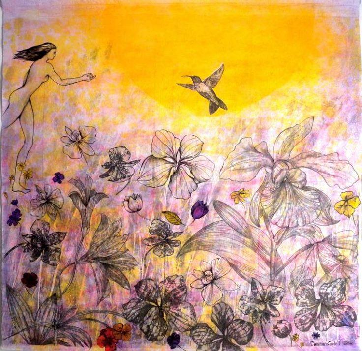 "Saatchi Art Artist Daniela Carletti; Painting, ""The call"" #art"