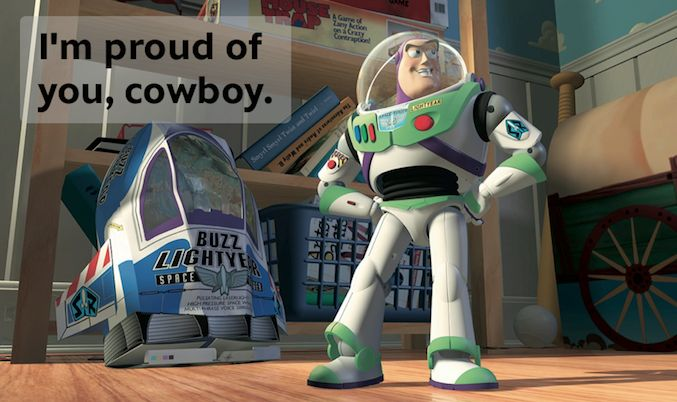 A Buzz Lightyear Quote for Every Situation - Disney Blogs it was my duty to repin this.