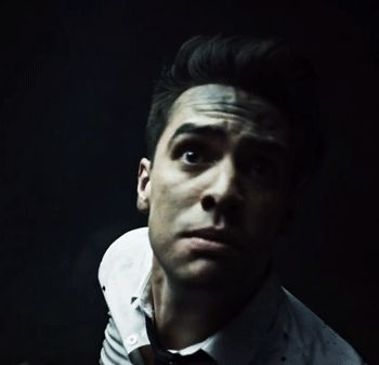 panic at the disco - emperor's new clothes | brendon's face at the beginning of the gif makes him look like a little puppy