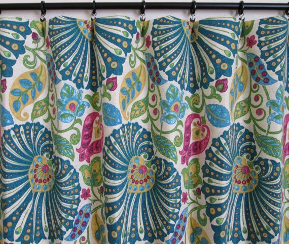 Pair Of Rod Curtains Drapery Window 50 X 84 Richloom Moroccan Floral
