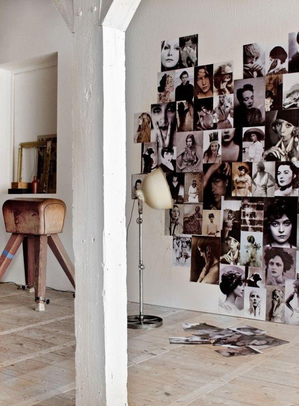 Originele manier van foto's ophangen