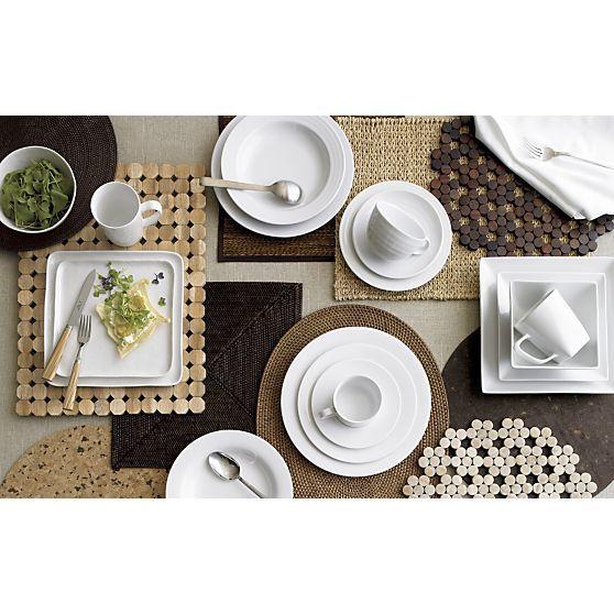 Mercer Square Dinnerware Entertaining Square Plates And
