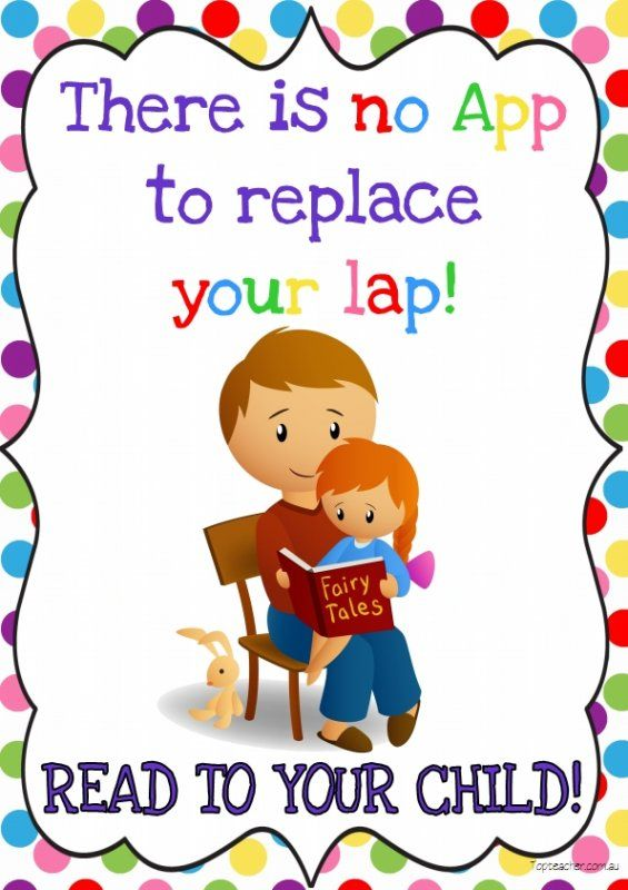 'There Is No App To Replace Your Lap' Read To Your Child