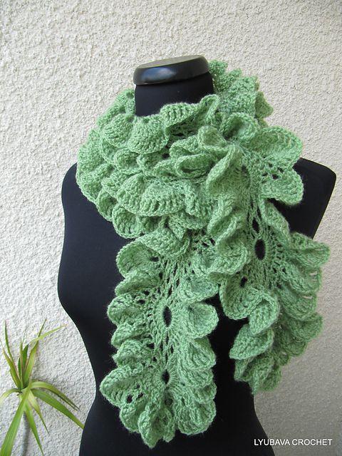 Ravelry: Romantic Ruffled SCarf Crochet Pattern pattern by Lyubava Crochet