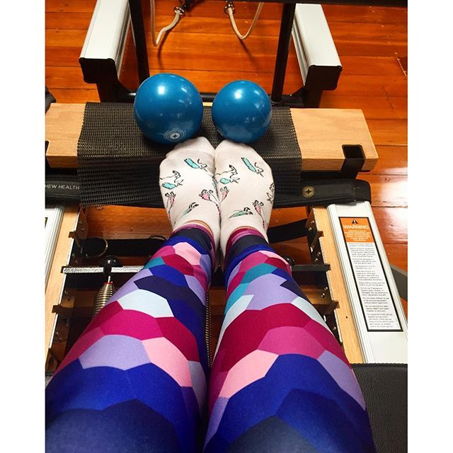 Witness the Fitness and be impressed by my cool leggings. Had an absolute ball trying out reformer Pilates with the fit and fun @yelpmelbourne huge thanks to @breathe_wellbeing for showing us how it's done. Rebalancing and refreshing thanks to @vosswater