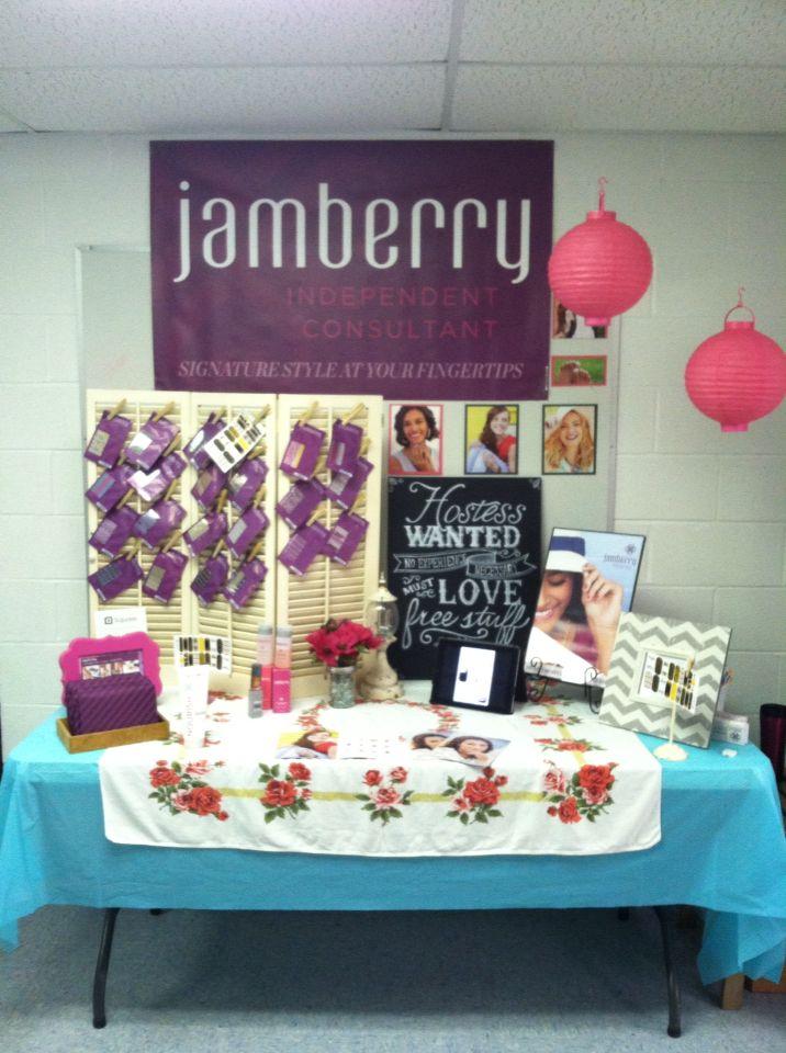 Jamberry vendor booth/display http://bethanysjamshop.jamberrynails.net
