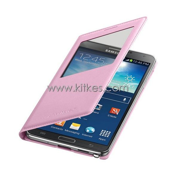 S-View Flip Cover Samsung Galaxy Note 3 (PINK) - Rp 199.000 - kitkes.com