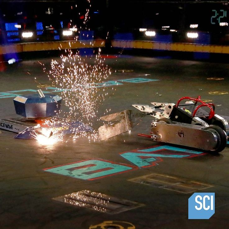 It's going down tonight on the @ScienceChannel! Tune in at 5:00 pm for fury-filled episodes of @BattleBots.  #HEXBUG #BattleBots #ScienceChannel #engineering #imagination #robots #robotics #science #tech #technology #stem