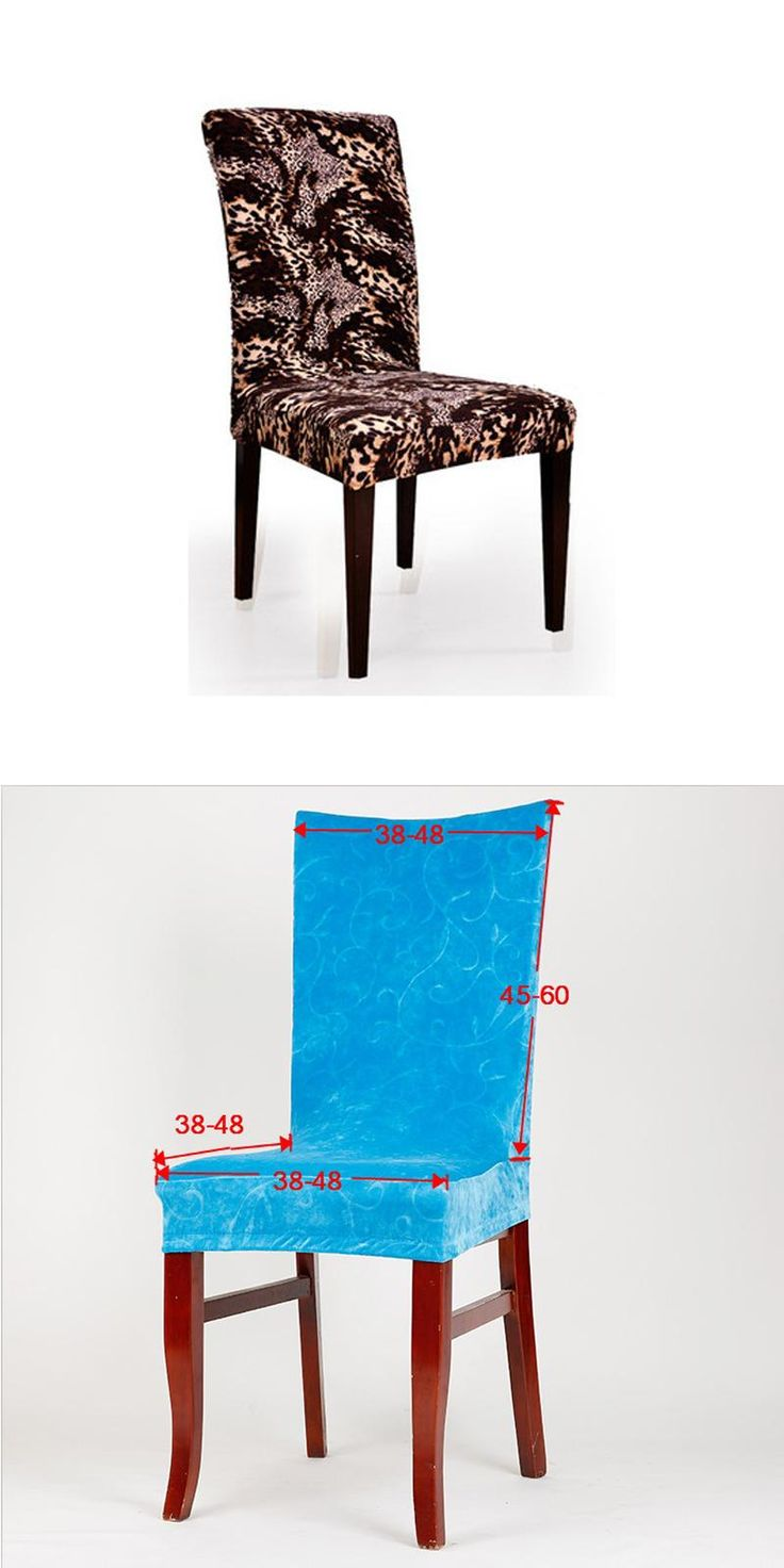 Polyester Spandex Stretch Chair Covers Classical Coffee Leopard Elastic Printed Dining Wedding Party Chair Covers V43